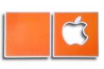 """Корка """"Apple""""/""""Яблоко"""", Orange (оранжевый)"""